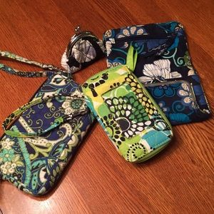 Vera Bradley lot of wallets.